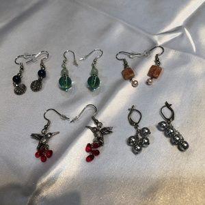 LOT Handmade Drop Earrings 5 Pair